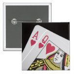 Blackjack Hand - Ace and Queen (3) Pin