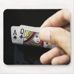 Blackjack Hand - Ace and Queen (4) Mousepads