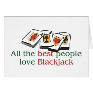 Blackjack Lover's greetings Card