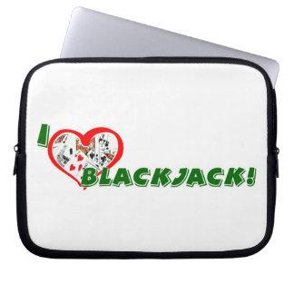 Blackjack Lover's laptop sleeves