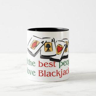 Blackjack Lover's two tone mug