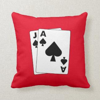 Blackjack pillow