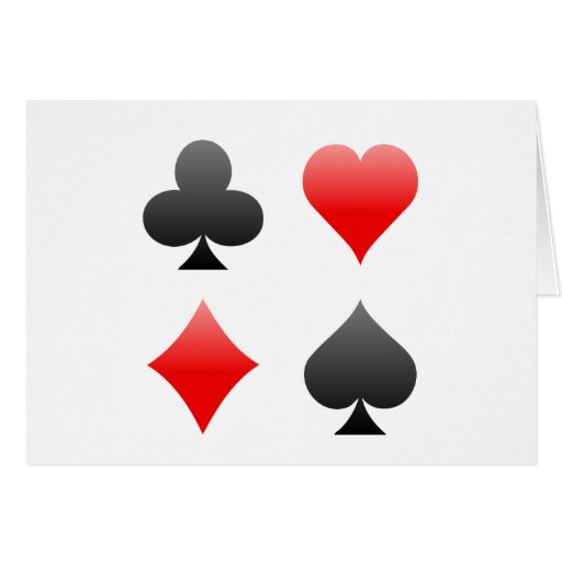 Blackjack / Poker Card Suits: Vector Art: