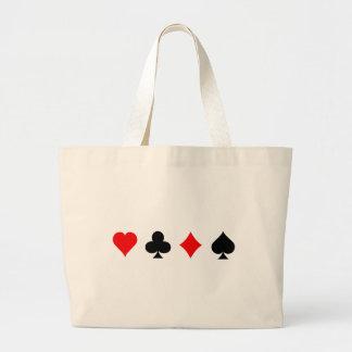Blackjack / Poker Card Suits: Vector Art: Tote Bag