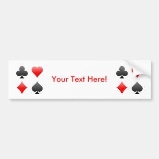 Blackjack Poker Card Suits Vector Art Bumper Sticker