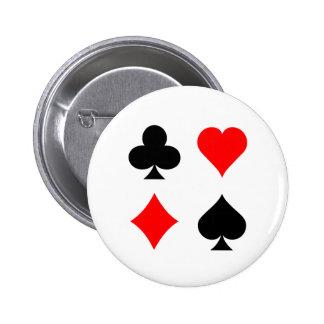 Blackjack / Poker Card Suits: Vector Art: Button