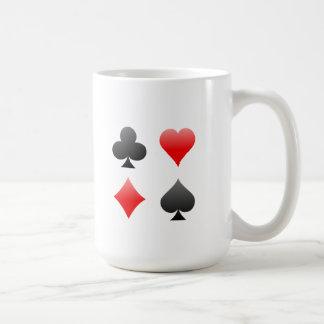 Blackjack / Poker Card Suits: Vector Art: Coffee Mug