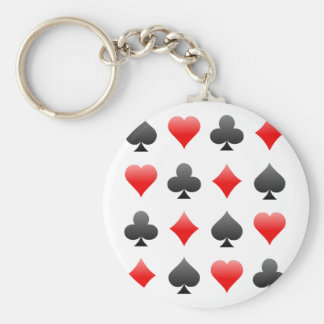 Blackjack / Poker Card Suits: Vector Art: Keychain
