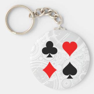 Blackjack / Poker Card Suits: Vector Art: Keychain
