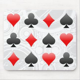 Blackjack Poker Card Suits Vector Art Mousepad