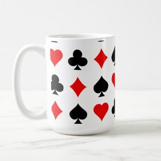Blackjack / Poker Card Suits: Vector Art: mug