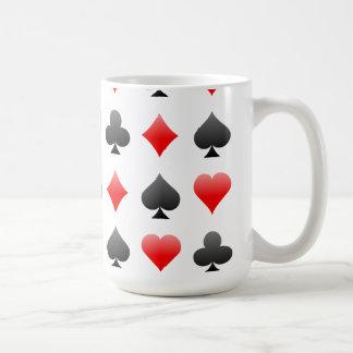 Blackjack / Poker Card Suits: Vector Art: Mugs