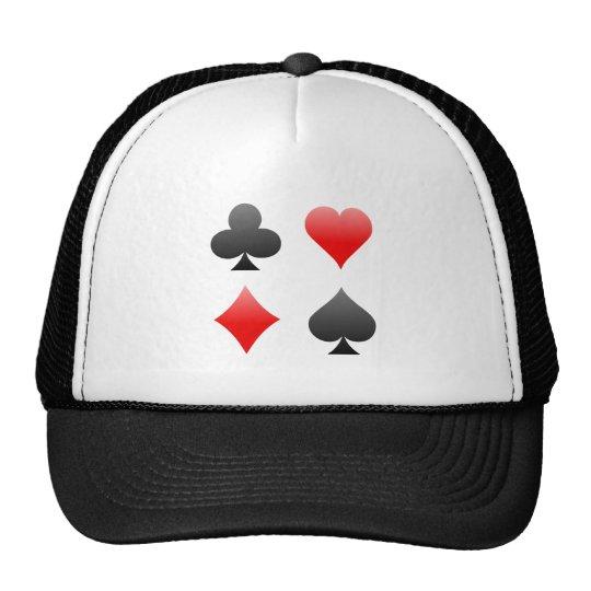Blackjack / Poker Card Suits: Vector Art: Trucker Hat