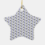 Blackjack Spades Blue Christmas Ornament