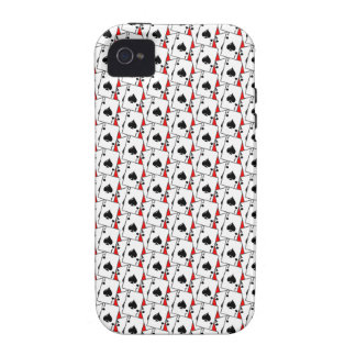 Blackjack Spades Red Case-Mate iPhone 4 Covers