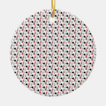 Blackjack Spades Red Christmas Tree Ornament