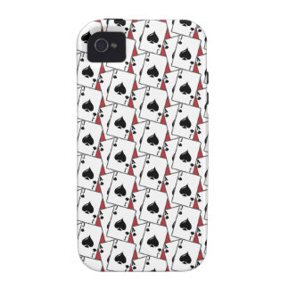 Blackjack Spades Red Large iPhone 4/4S Case