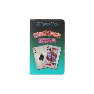 Blackjack Star Pocket Moleskine Notebook