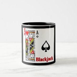 Blackjack Two-Tone Coffee Mug
