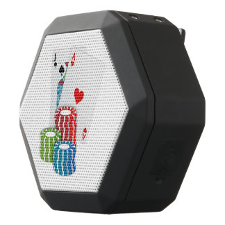 Blackjack with Poker Chips Black Bluetooth Speaker