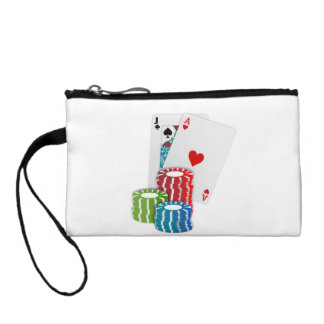 Blackjack with Poker Chips Change Purse