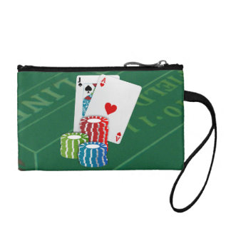 Blackjack with Poker Chips Coin Wallet