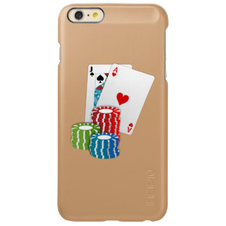 Blackjack with Poker Chips Incipio Feather Shine iPhone 6 Plus Case
