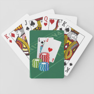 Blackjack with Poker Chips Playing Cards