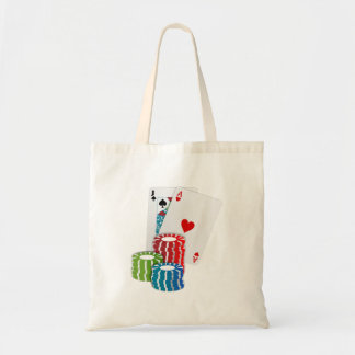 Blackjack with Poker Chips Tote Bag