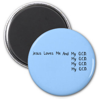 blackjesuslovesme 2 inch round magnet