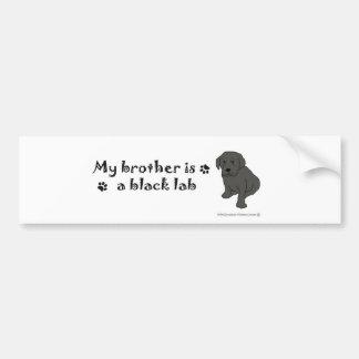 BlackLabPuppyBrother Bumper Sticker