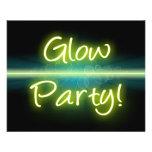 Blacklight amarillo/verde del fiesta del resplando tarjetones