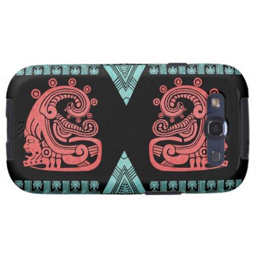 Blacklight Aztec Warrior Hieroglyph Galaxy S3 Cases