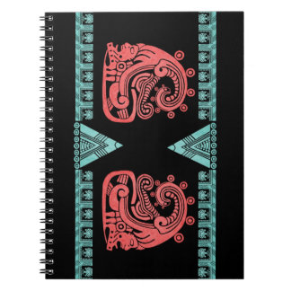 Blacklight Aztec Warrior Hieroglyph Notebook