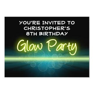 Blacklight azul/amarillo de la fiesta de invitación 12,7 x 17,8 cm