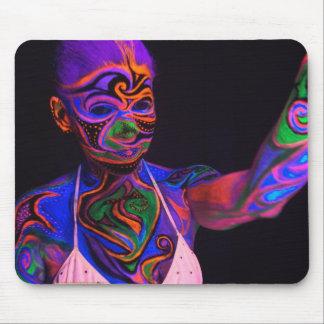 blacklight bodypaint mouse pad