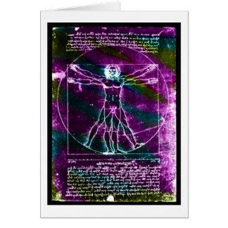 Blacklight colorized hombre de la proporción de da tarjeta pequeña