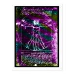 Blacklight colorized hombre de la proporción de da tarjeta postal