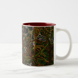 Blacklight Garden Two-Tone Coffee Mug