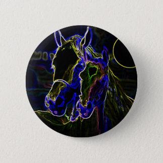 Blacklight Horses Button