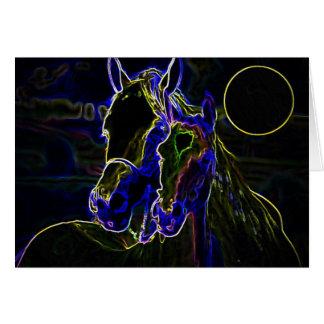 Blacklight Horses Card