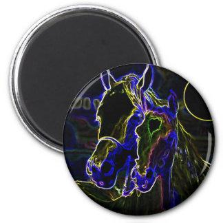 Blacklight Horses Magnet