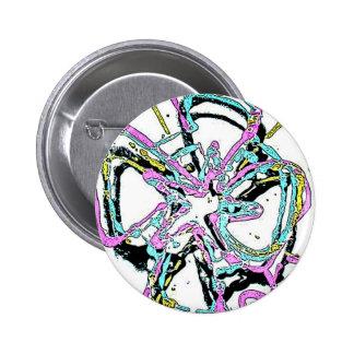 Blacklight / Neon Splash Abstract Celtic Cross Pin