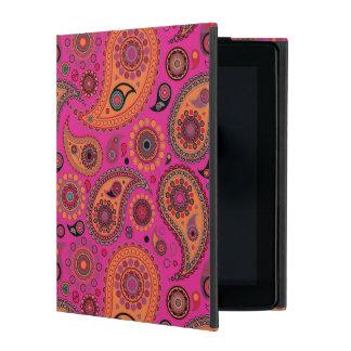 Blacklight Paisley iPad Cover