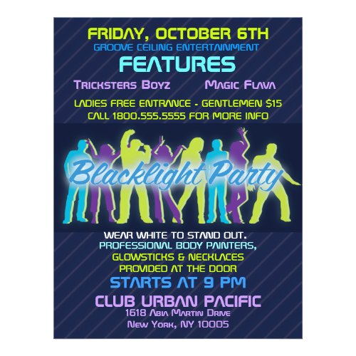 Blacklight Party Flyer Invitation Announcements flyer