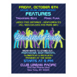 Blacklight Party Flyer Invitation Announcements