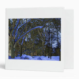 Blacklight Snow and Negative Trees by KLM Binder