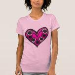 blacklineflower2 camisetas