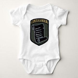Blacklist patch baby bodysuit