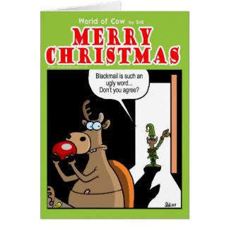 Blackmail at Christmas Card